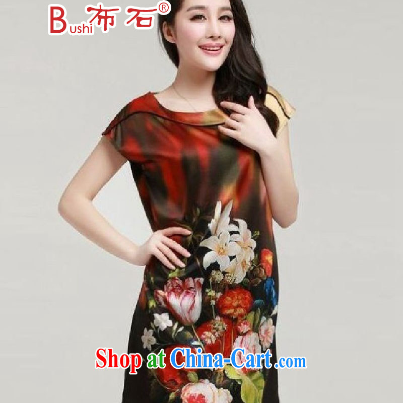 The stone is indeed the XL women summer dresses silk thick, sister graphics thin, the red XXXL