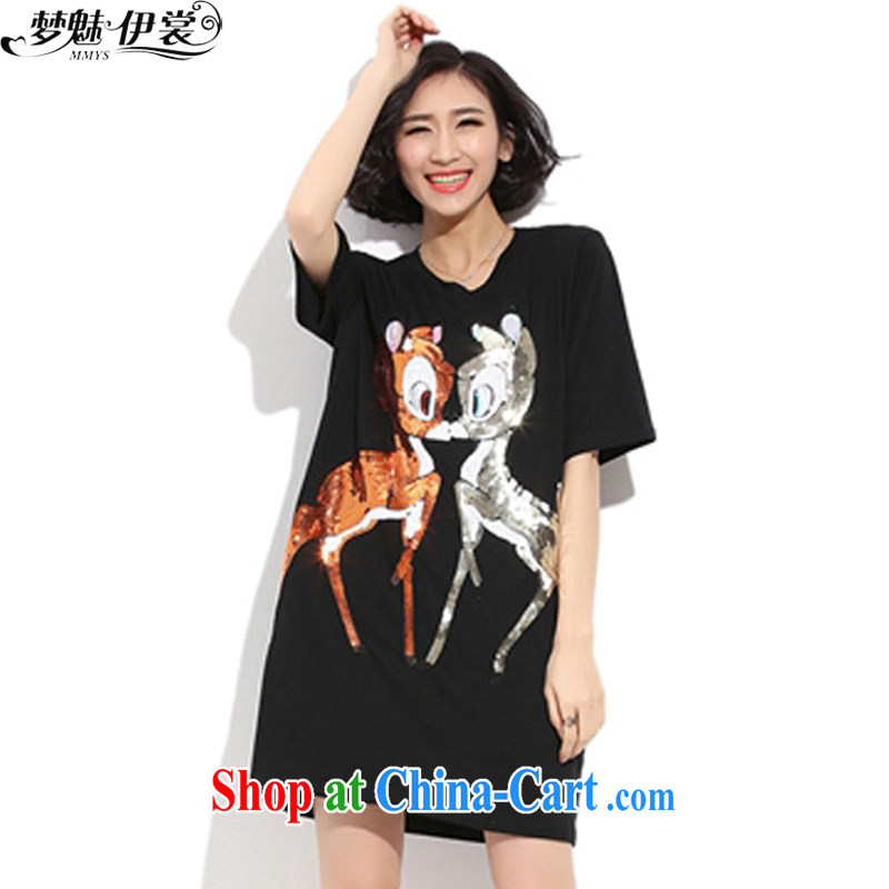 Director of the Advisory Committee 2015 spring and summer NEW GRAPHICS thin and thick XL women mm thick, long T shirt short-sleeved suits skirt black loose all code brassieres tile 110