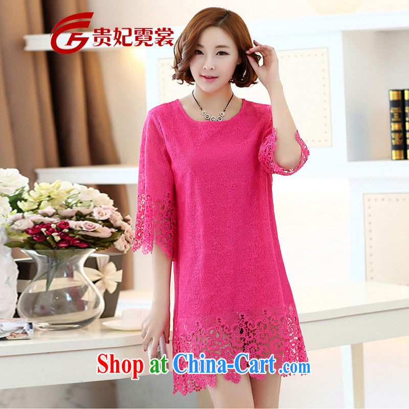 queen sleeper sofa Ngai advisory committee King, female 2015 summer New, and indeed increase, Korean lace lace 7 cuff-A skirts of 613 red 3 XL
