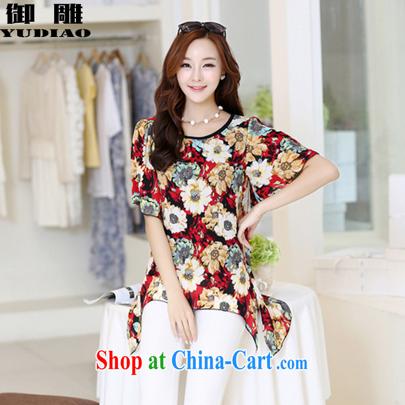 royal eagle 2015 summer female new mm thick stylish stamp duty is not large, snow-woven shirts Z 021 red XXXXL