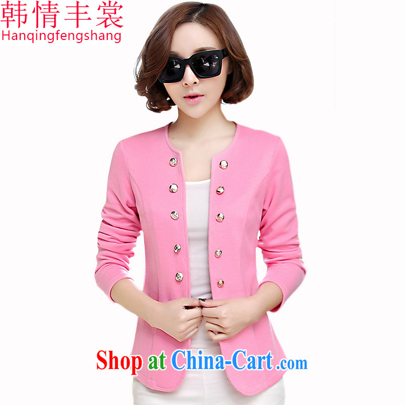 South Korea and Hongkong advisory committee spring 2015 new thick MM large code female double-knit shirts and indeed increase short paragraph 100 on the T-shirt jacket round neck T-shirt 803 pink large code 5 XL