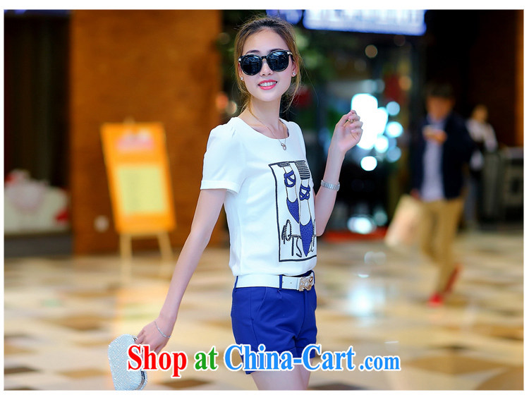 PDQC European site 2015 summer leisure package short-sleeved T shirts shorts small Hong Kong culture quality two-piece women blue XL pictures, price, brand platters! Elections are good character, the national distribution, so why buy now enjoy more preferential! Health
