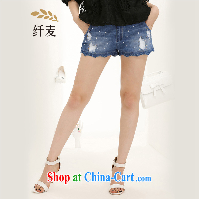 The Mak is the adolescent girls with 2015 summer new thick mm stylish relaxed jeans 652325068 blue 3 XL