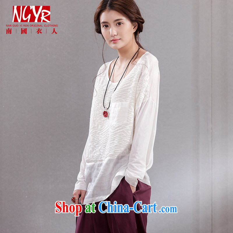 Xiao Nan Guo Yi people of the white carnival the code units the female bat sleeves loose white shirt sweater girl white are code (chest of CM 116 )