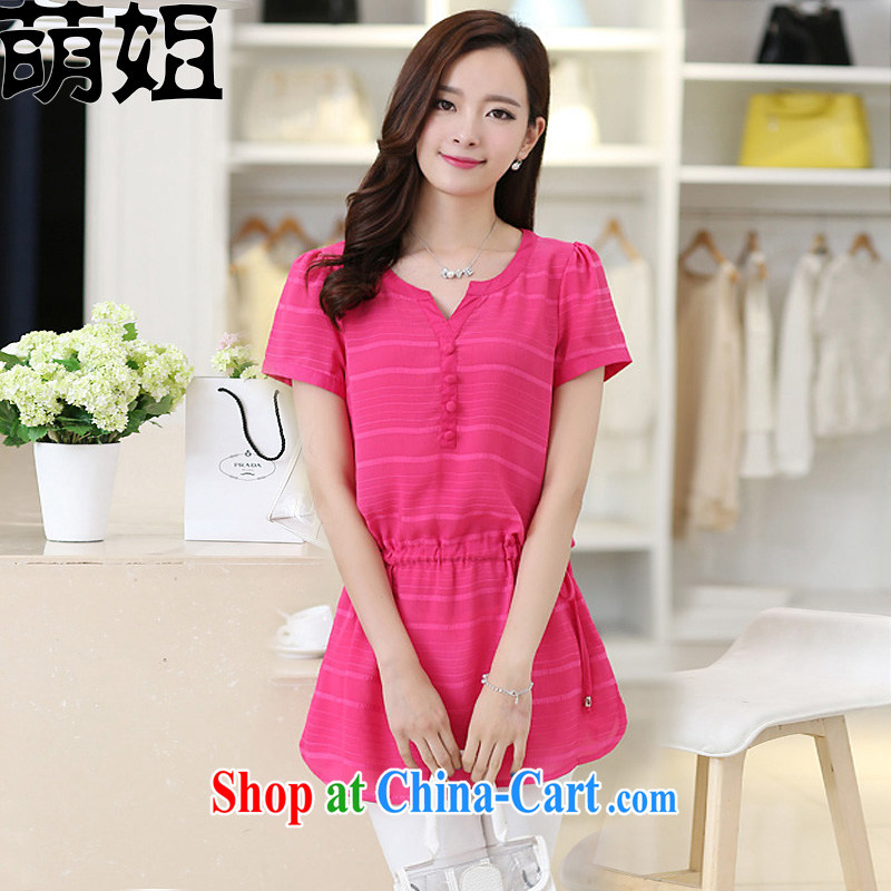Sister into summer 2015 with new Korean version cultivating the Code women's clothing dresses M of 321 red XXXL _Quality Assurance_