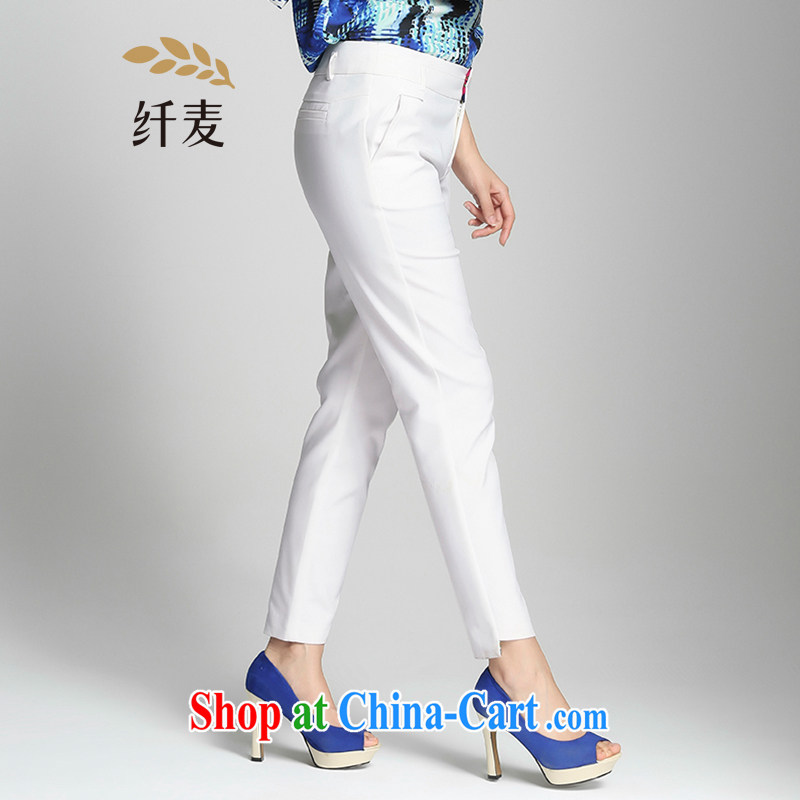 Former Yugoslavia, Mr Big, female 2015 summer new thick mm stylish lounge simple graphics thin trousers 952091753 white 6 XL