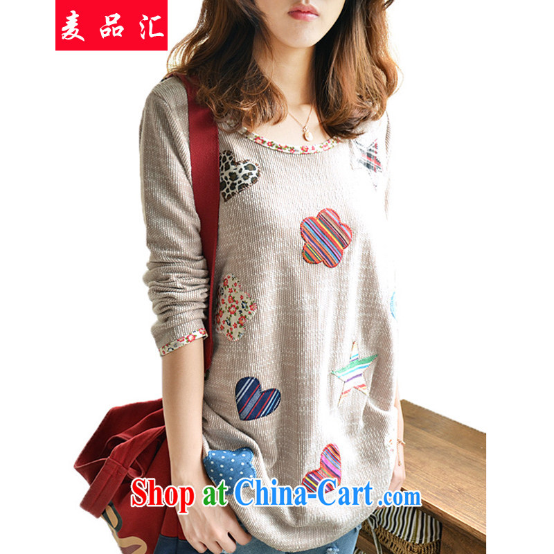 Mr MAK, Exchange 2015 spring basket the solid T-shirt and indeed increase, female loose, thick mm video thin, long-sleeved shirt T 099 Map Color L recommendations 100 - 120 jack