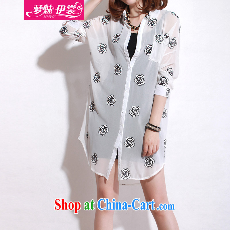 Director of the Advisory Committee 2015 spring and summer with new, and indeed increase, women mm thick, long, snow-woven shirts loose long-sleeved T-shirt white T-shirt loose all code brassieres tile 120
