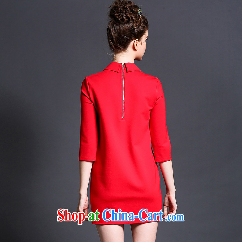 The Connie was a high-end European and American 2015 spring new dresses and indeed increase, female 200 Jack lapel lovely stamp 7 cuff short skirts G 5108 red XXXXXL, Connie dreams, and, shopping on the Internet