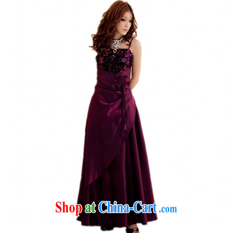 The delivery package as soon as possible-king, long skirt dress 2015 new summer Rose Bud wiped their bra straps dress mm thick Evening Dress ceremonial dress purple XXL approximately 150 - 170 jack