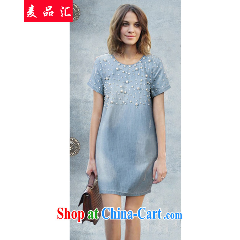 Mr MAK, sinks XL dresses girls in long 2015 summer New Beauty video thin larger female pack and dress the Summer blue jeans 3 XL recommendations 145 - 160 jack