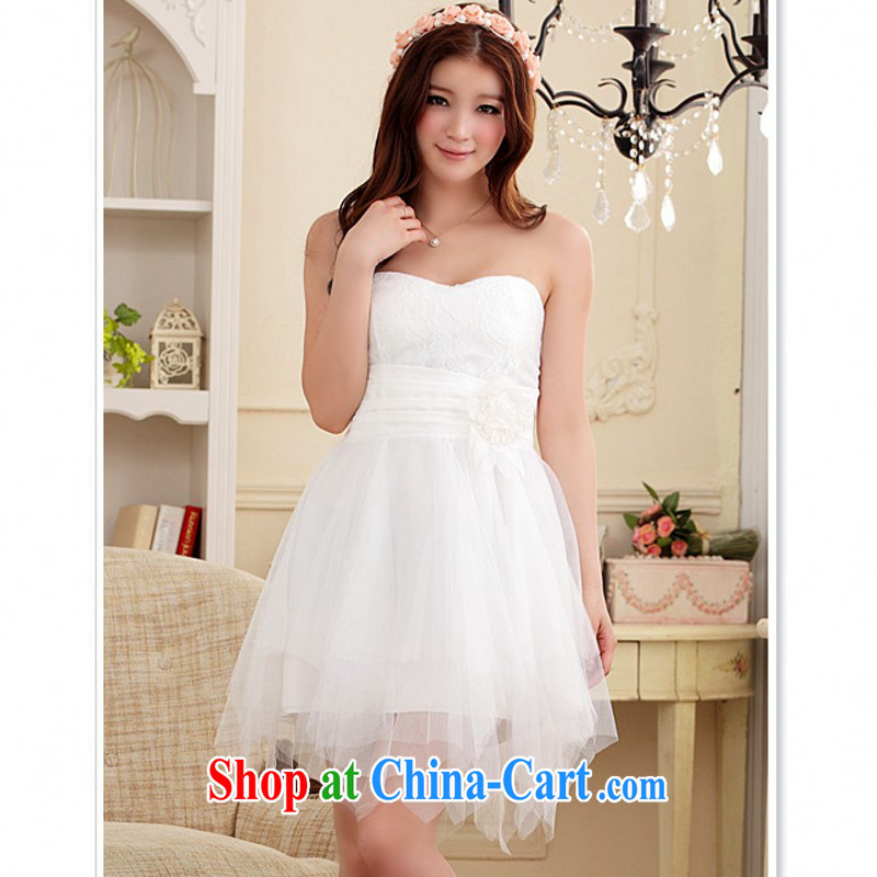 The delivery package as soon as possible e-mail 2015 new sweet ladies dress XL stylish not rules skirt with straps small dress wedding dresses with white XXL approximately 140 - 155 jack