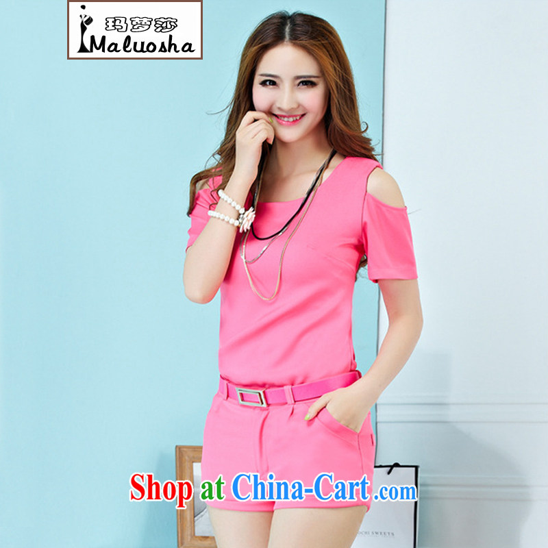 Kahlo's Princess Elizabeth's summer 2015 new European site Sports _ Leisure package Korean girls with short-sleeve female T shirts shorts two piece pink S