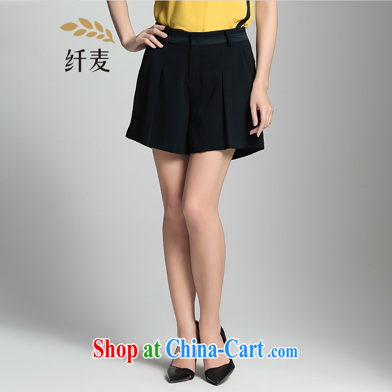 Former Yugoslavia, Mr Big, female 2015 summer new thick mm stylish 100 a solid-colored loose shorts 952094748 black 4XL