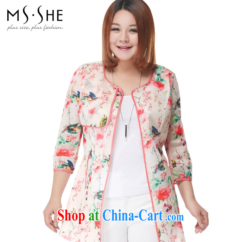 MSSHE XL girls 2015 new summer 7 cuff stamp wind jacket, long suit 2869 2 XL