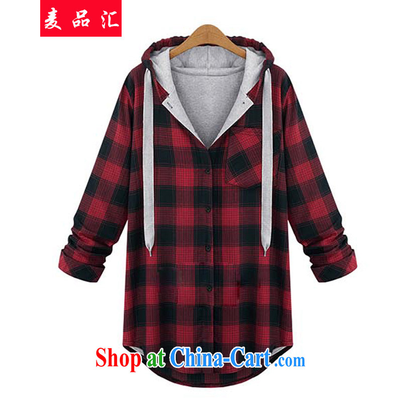 Mr MAK, Exchange 2015 new spring is the XL girls thick mm leisure cotton loose video thin British Grid jacket 200 822 Jack red XXXL