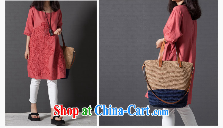 To Love, 2015 spring new dress code the ladies literary, small fresh loose embroidery cuff in the cotton dress wine red XXL pictures, price, brand platters! Elections are good character, the national distribution, so why buy now enjoy more preferential! Health