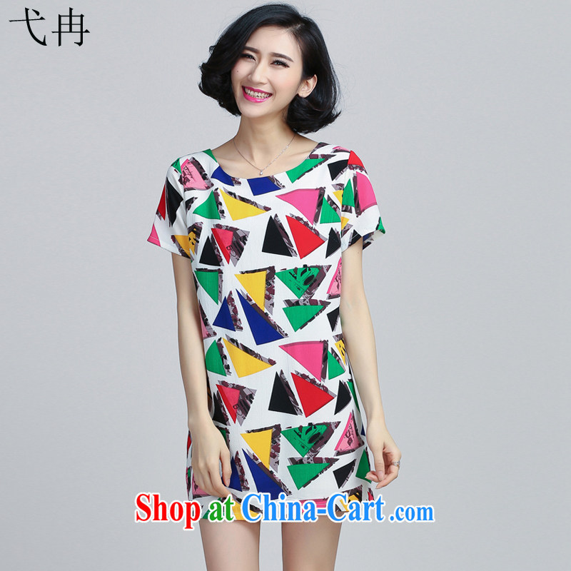 More cruise 2015 summer new female thick MM larger dresses Y 067 60,323 Delta XXXL