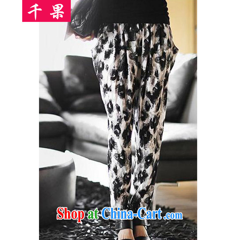1000 fruit summer 2015 the code female new and indeed XL thick MM casual trousers Korean loose video thin, trousers castor pants 98,129 picture color 3XL recommendations 170 - 190 jack
