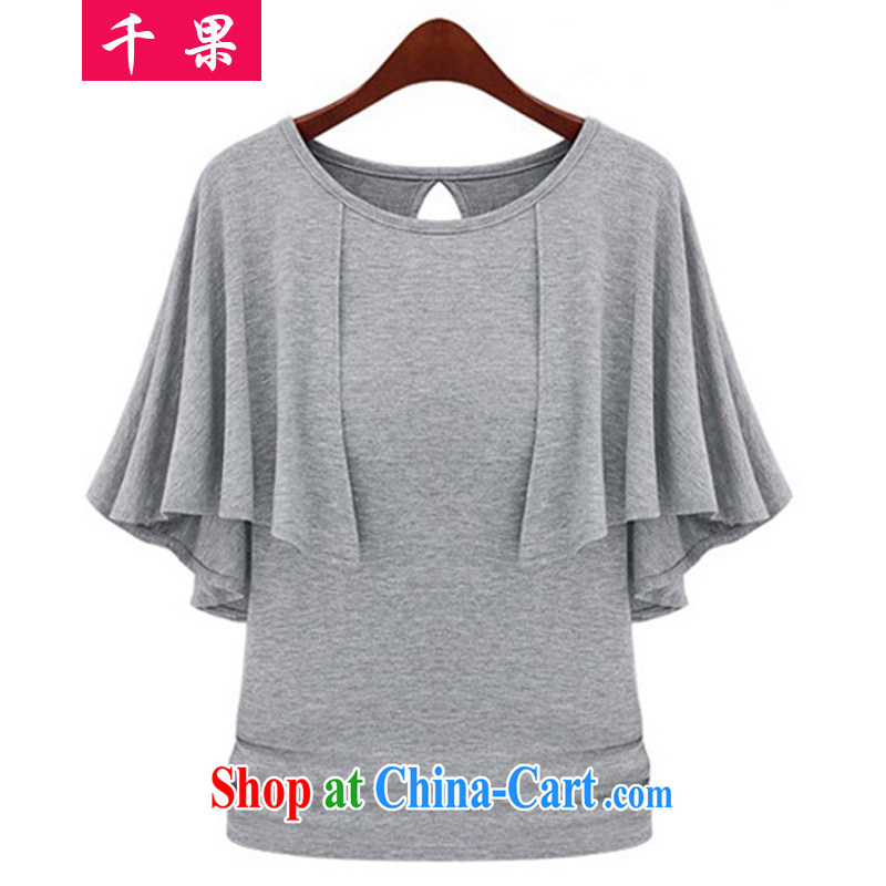 1000 summer fruit with new women with large, short-sleeved video thin T-shirt in Europe and indeed the XL leisure solid shirt thick mm stylish beauty T-shirt 1169 gray 2 XL recommendations 135 - 150 jack