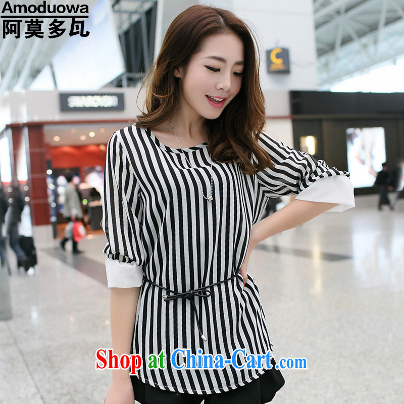 Celso Amorim, more than 2015 summer on the new girls on the Code women snow stripes woven shirts loose shirt T pension 8629 _picture color M