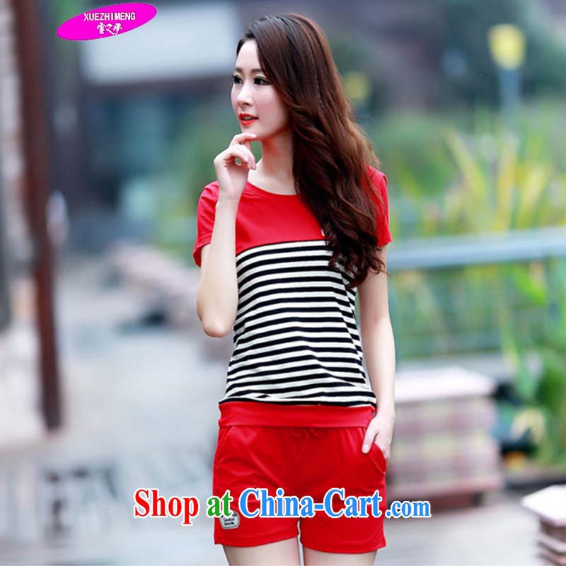 Snow dream spring 2015 Korean version of the new, larger female Sport Kit stylish shorts casual 195 red XXXL 135 - 150 jack