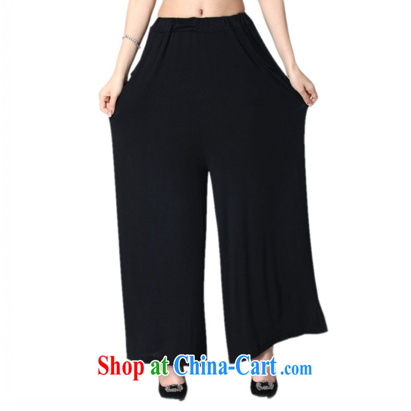 The delivery package as soon as possible e-mail 2015 spring and summer new, modern style OL Wide Leg trousers and ventricular hypertrophy, Lady Mok, trousers thick mm loose dress pants black 5 XL approximately 180 - 210 jack