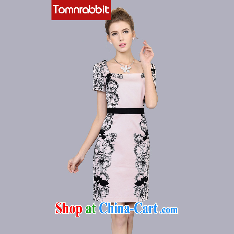 The European site 2015 spring and summer New floral dresses Spring and Autumn and the Code women in Europe and the original Pattern Color XXXL