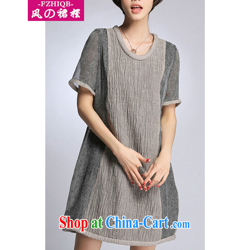 of the wind than the 2015 spring and summer, the United States and Europe, linen stitching, long, loose the code dress dresses Map Color XXXXXL