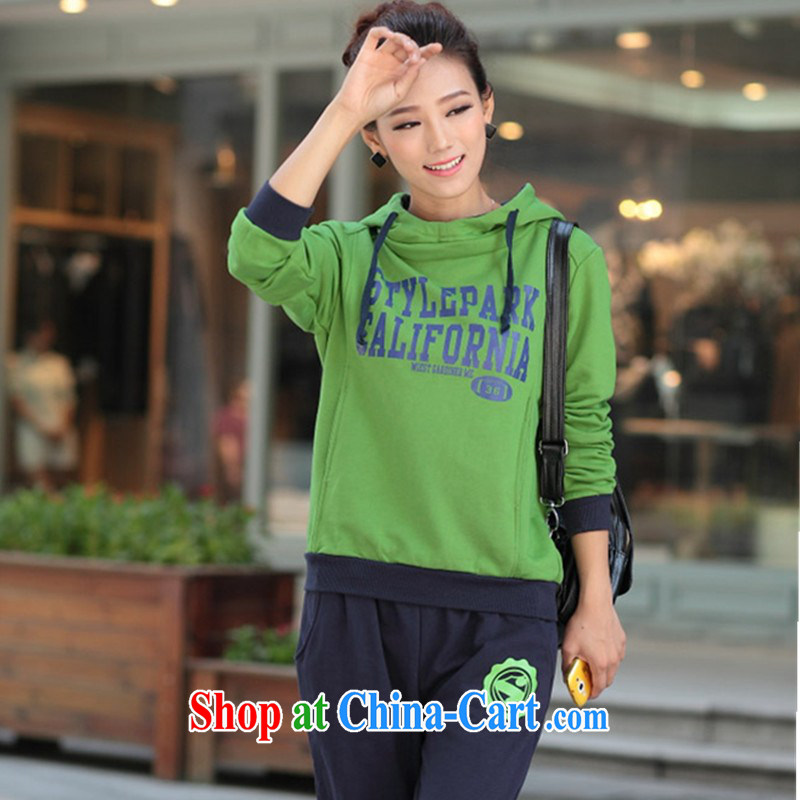 mm thick European site early autumn 2014 new XL Korean video thin sport and leisure Autumn and Winter Package 200 Jack mm thick graphics thin package female spring loaded arms green XXXXL