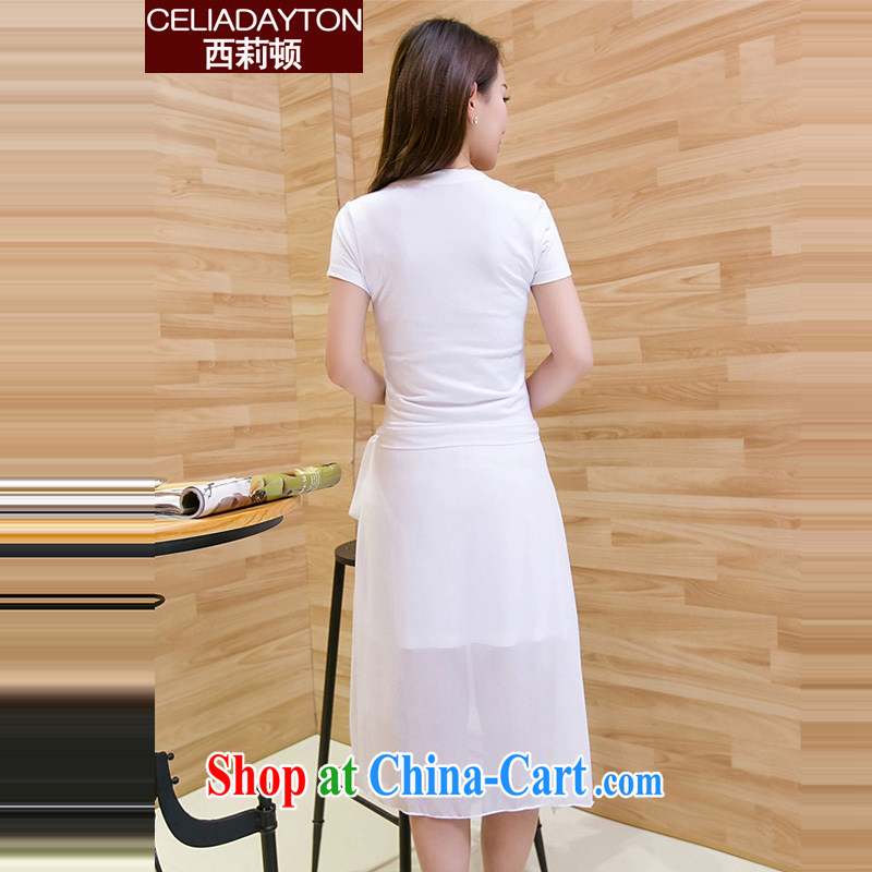 Cecilia Medina Quiroga and Macedonia is indeed XL 200 Jack female 2015 new thick mm summer fashion style short-sleeved stitching snow in woven long does not regulate purchase a skirt black XXXXL, Cecilia Medina Quiroga (celia Dayton), online shopping