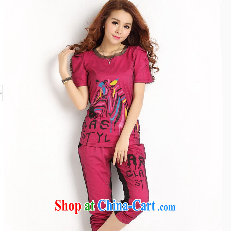 2015 new products, new mm thick summer is the girl with the FAT XL female 200 Jack Sport Kits female summer 7, pants female students Sport Kit, 529 red 4 XL recommendations 170 - 185 jack