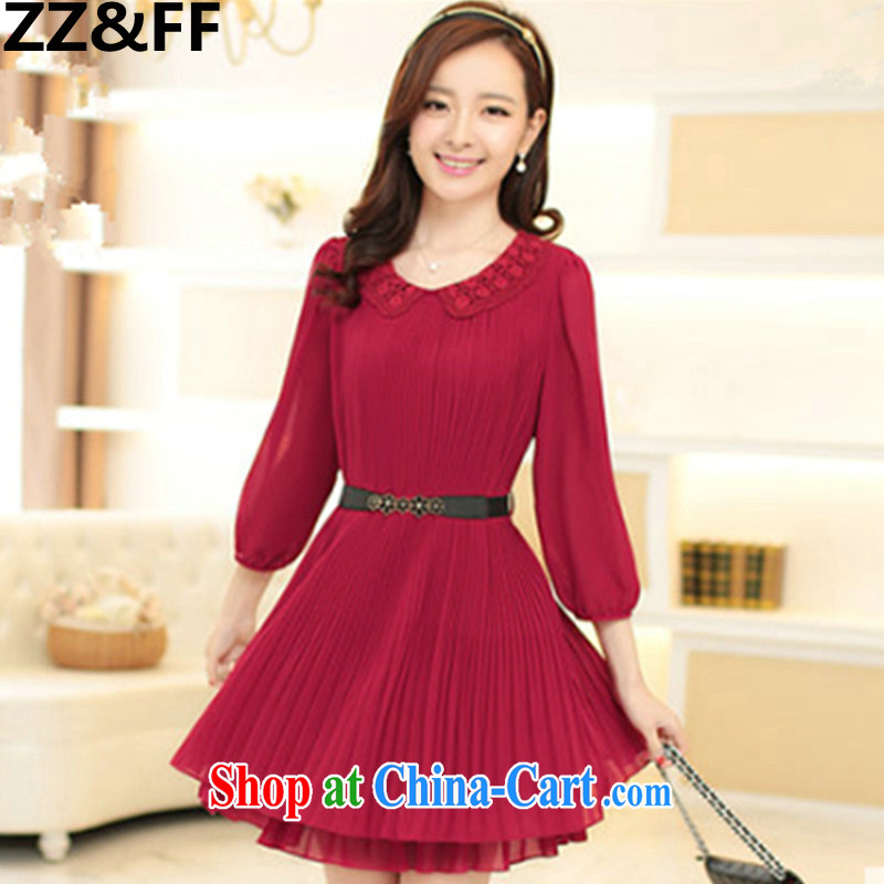 ZZ _FF 2015 new summer Korean loose video thin and thick XL women mm thick snow woven dresses 100 hem skirt girl, lap red XXXXXL _165 - 200 _ jack