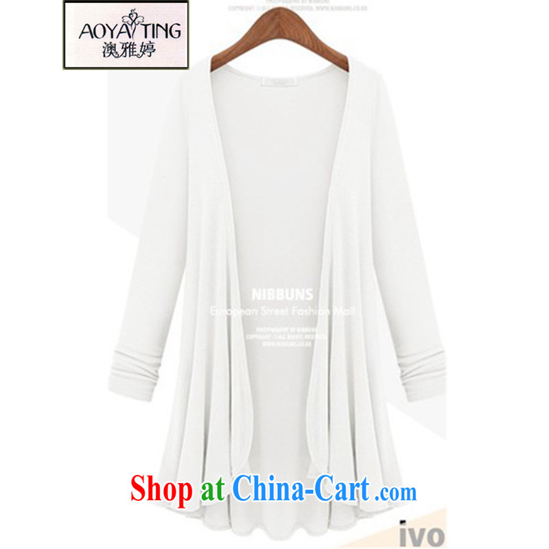 o Ya-ting 2015 New, and indeed increase, female Korean mm thick knitted T-shirt, long cardigan jacket women 12 - 31 5 white XL recommends that you 175 - 200 jack