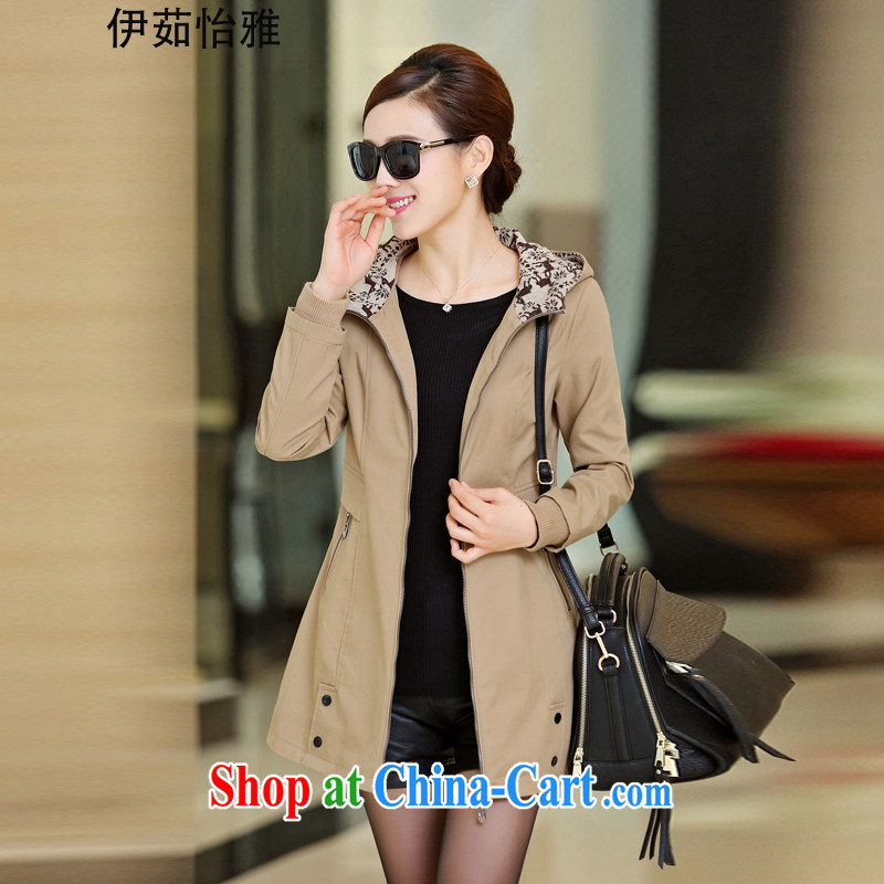 The Ju-yi, the Code women spring 2015 thick, graphics thin 4XL beauty lounge and indeed intensify wind jacket YY 5088 khaki XXXL