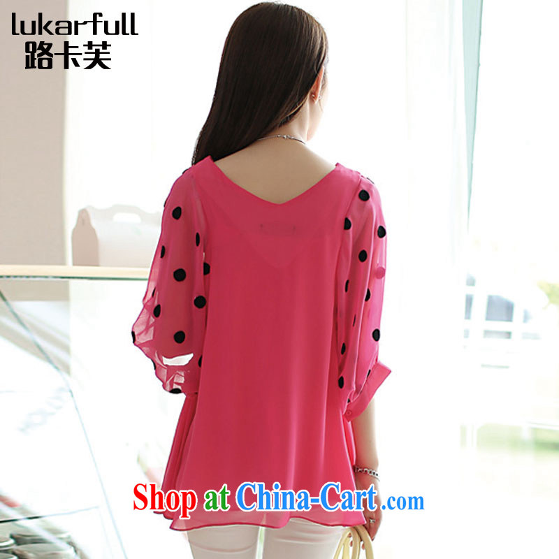 The card would be 2015 spring new, thick, female video thin section V-neck snow woven large Code women summer 0041 A the red XXXL, the card stock (LUKARFULL), shopping on the Internet
