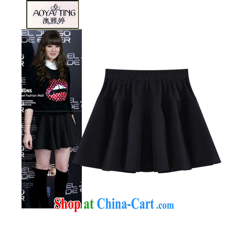 o Ya-ting 2015 spring and summer new and indeed XL female 100 hem skirt body fat mm short skirt girls 51 - 05 black 4 XL recommends that you 160 - 180 jack