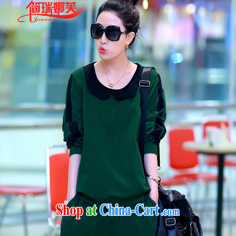 In short, will be the 2015 spring loaded new thick MM and indeed increase code loose video thin Leisure package long-sleeved two-piece female J 724 dark 4 XL