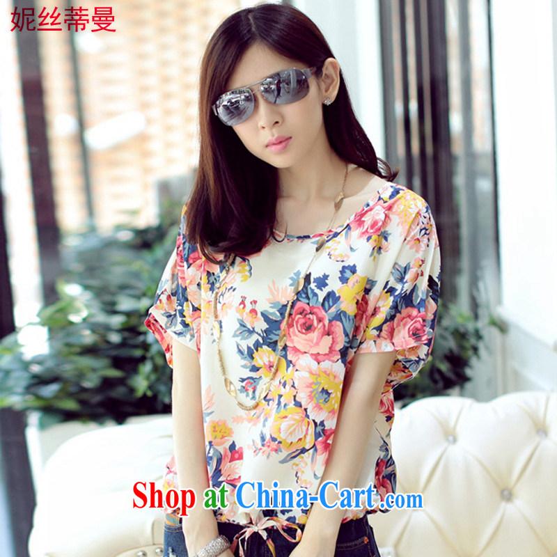 Connie Jean Chretien, Cayman 2015 summer new fancy loose short-sleeved snow woven shirts DM 020 fancy XXXL