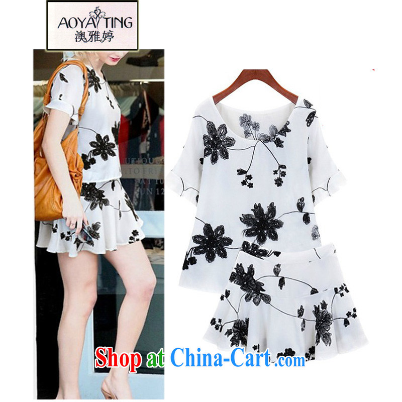 o Ya-ting 2015 summer New, and indeed increase, female fat mm shorts dresses two piece girls 579 white 3XL recommends that you 145 - 165 jack