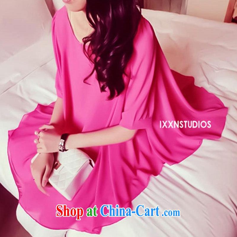 100 Of The 2015 new fertilizer MM dress pregnant women may also wear_ The red XL