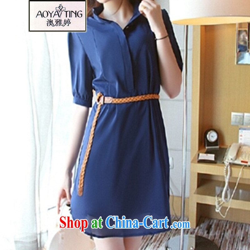 o Ya-ting 2015 is indeed the XL female summer MM thick snow woven shirts dresses women 51 - 13 dark blue 5 XL recommends that you 175 - 200 jack