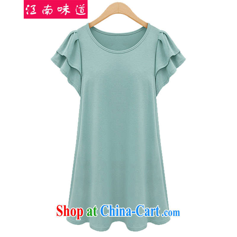 taste in Gangnam-gu 2015 summer new, larger female and ventricular hypertrophy King Code women mm thick loose video thin, flouncing short-sleeved 31 mint green 4 XL recommendations 160 - 180