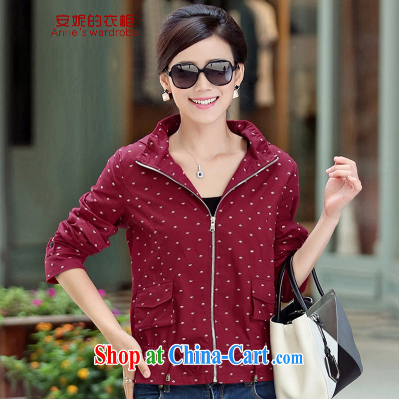 Anne's Closet 2015 spring on the new large code female short coat female YS 9001 red XL