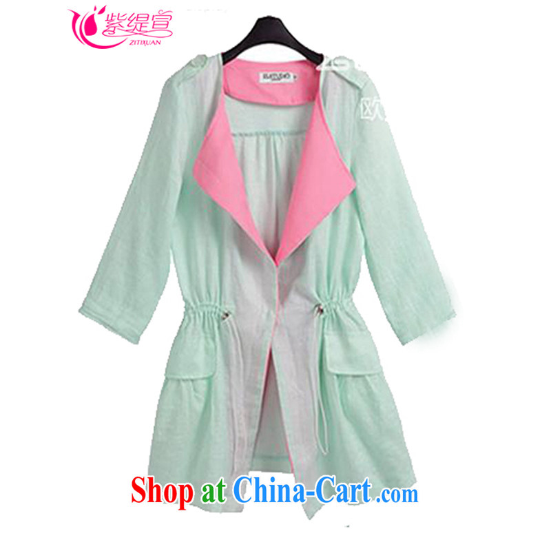 economy first and foremost in Europe and declared the code new girls Spring Summer and Autumn thick mm leisure two-piece 7 cuff sunscreen shirt, long jacket, + vest the 1410 _2 XL 135 - 145 about Jack