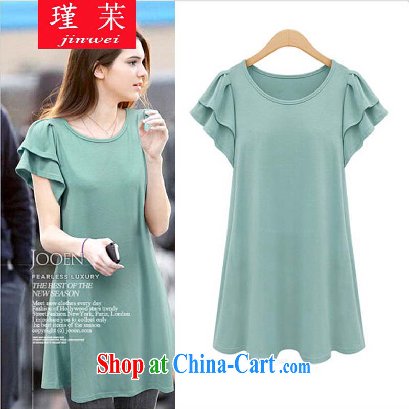 keun ? Europe larger thick mm summer is indeed the greater 200 Jack thick sister graphics thin larger dresses JW N 6102 103 light green code 5 XL