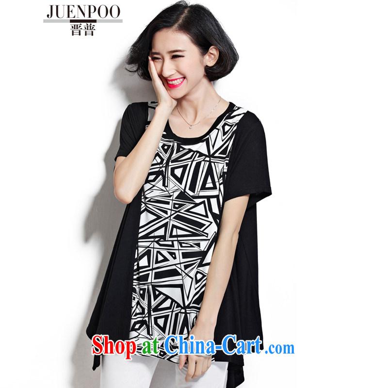 Shinzo Abe, summer new, larger female short-sleeve shirt T female casual dress ultra-liberal J 38,263 3 Delta are code