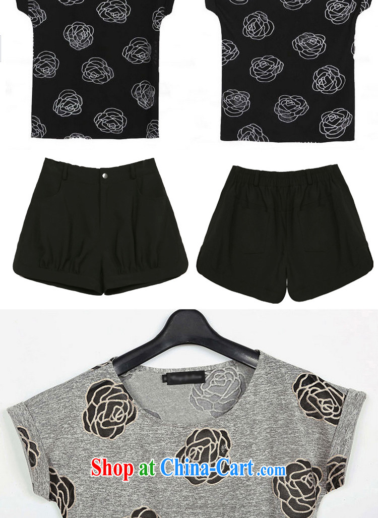MR HENRY TANG year maximum code female summer new leisure two-piece short-sleeved cotton shirt T thick woman Kit + shorts gray + Black shorts/1515 XL 5 185 - 195 Jack left and right pictures, price, brand platters! Elections are good character, the national distribution, so why buy now enjoy more preferential! Health