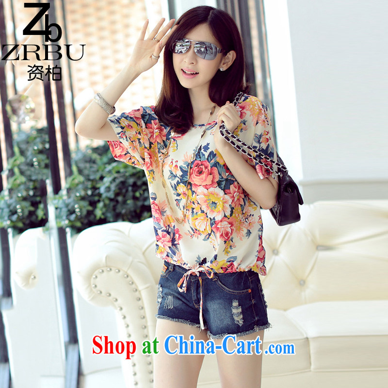 Funding Pak Korea and indeed increase 2015 summer new emphasis on the younger sister, female fancy loose short-sleeved snow woven shirts women T-shirt Z 8970 1 suit 2 XL (150 - 180 ) jack