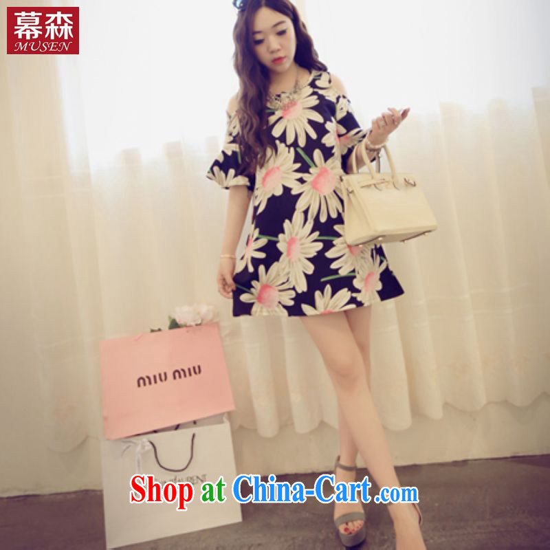 The sum 2015 summer Korean version of the greater code female thick mm video thin dress loose Korean snow woven shirts and feel your shoulders 200 jack to wear picture color code